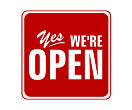 WE ARE OPEN !